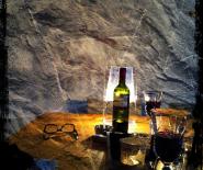 Foto: improvisatie aan tafel.