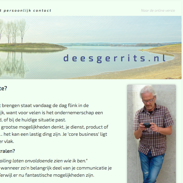 Screenshot van mijn eigen digitale communicatie.