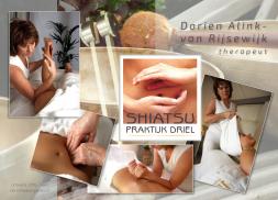 Voorbeeld van drukwerk: flyer van Dorien Alinks Shiatsupraktijk.