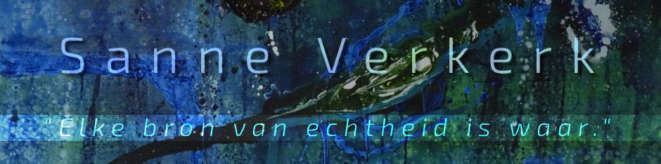 Screenshot van het artwork voor de website van Sanne Verkerk.
