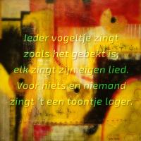 Klank en kleur, een foto met tekst.